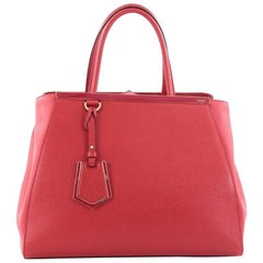 Fendi 2Jours Medium Leather Handbag