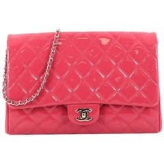 Chanel Clutch with Chain Quilted Patent