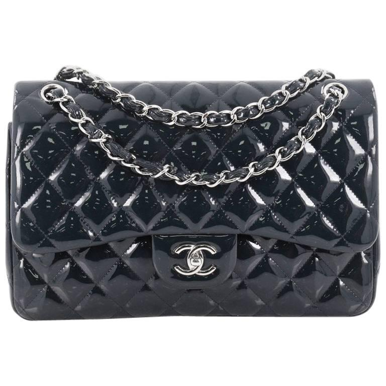e0ee50927732 Chanel Classic Quilted Patent Jumbo Double Flap Bag at 1stdibs