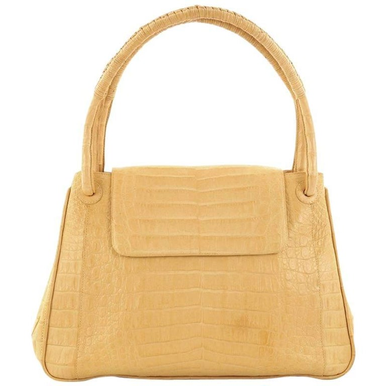 Nancy Gonzalez Top Handle Flap Bag Crocodile