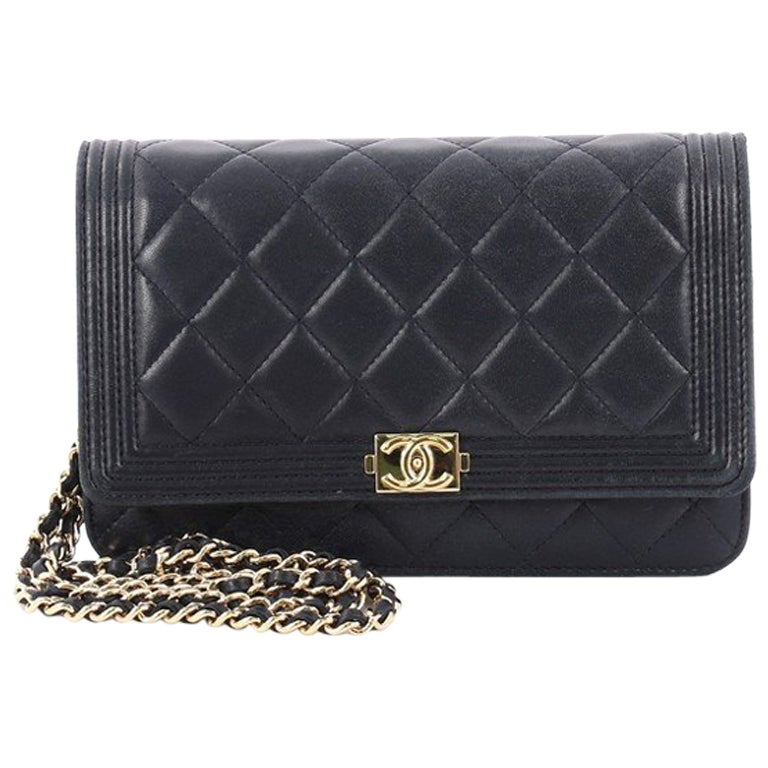 bd77db746c12 Chanel Boy Wallet on Chain Quilted Lambskin at 1stdibs