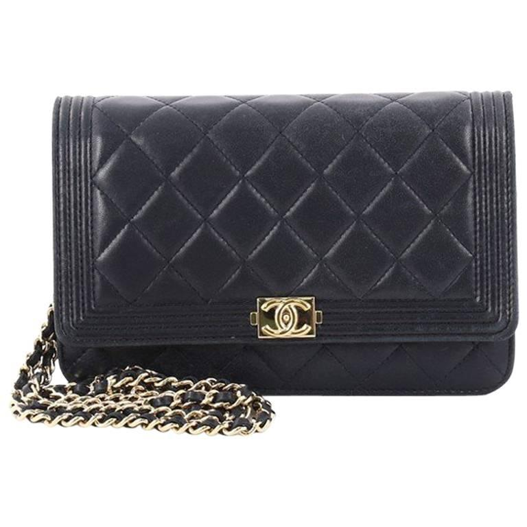Chanel Boy Wallet on Chain Quilted Lambskin at 1stdibs 43be4cb814b61