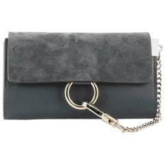 Chloe Faye Shoulder Bag Leather and Suede Mini