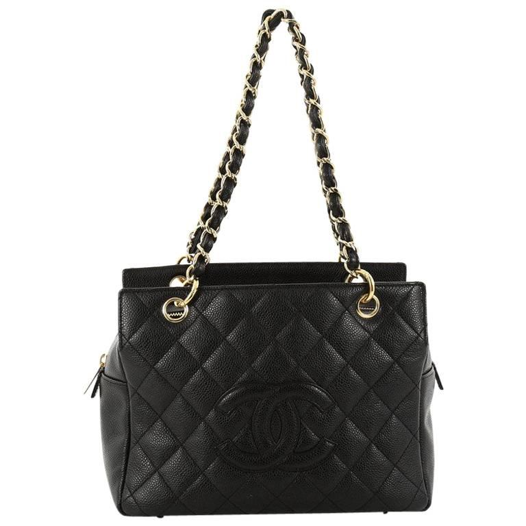 a8b203570564 Chanel Petite Timeless Tote Quilted Caviar at 1stdibs