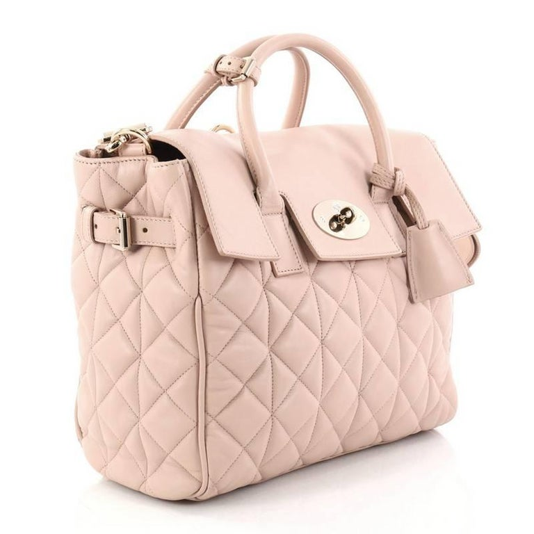 Beige Mulberry Cara Delevingne Convertible Backpack Quilted Leather Medium For Sale