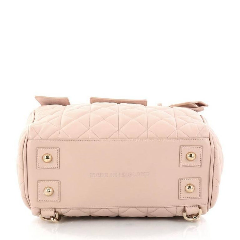 Women's Mulberry Cara Delevingne Convertible Backpack Quilted Leather Medium For Sale