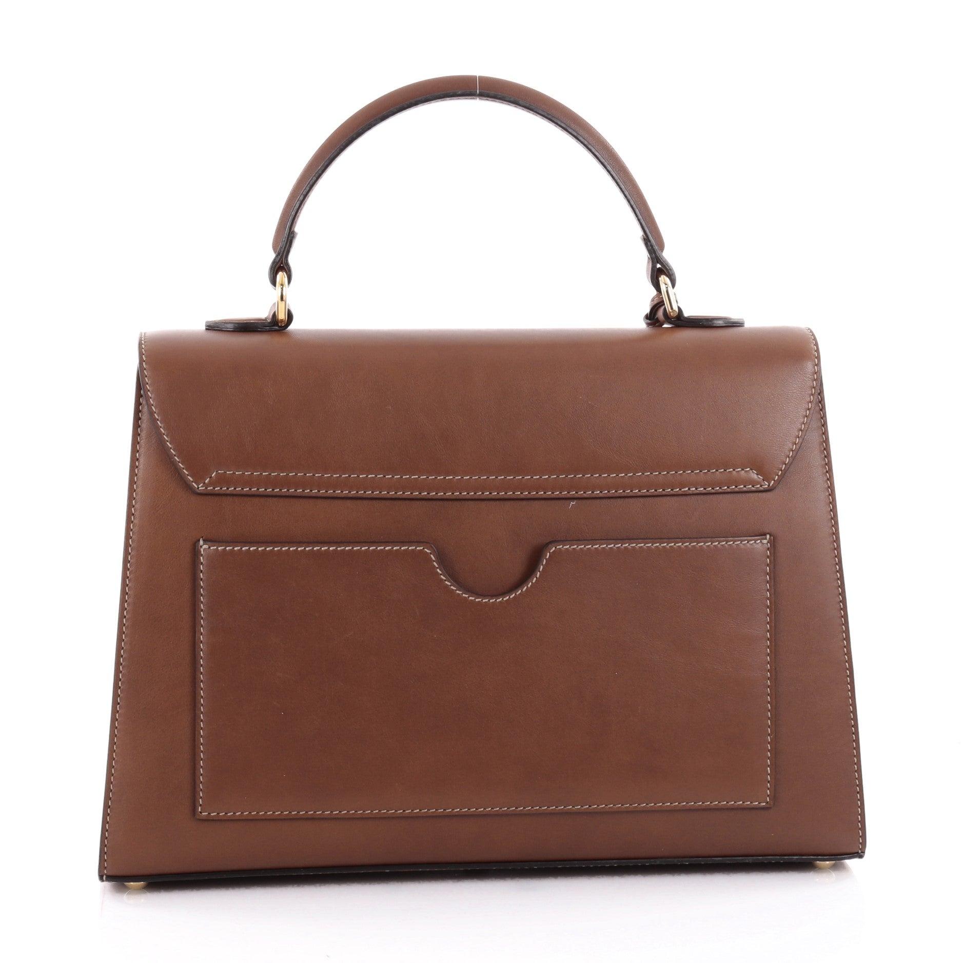 2bbd3636e3f1 Gucci Padlock Top Handle Bag Leather Medium at 1stdibs