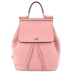 Dolce & Gabbana Miss Sicily Backpack Leather Mini