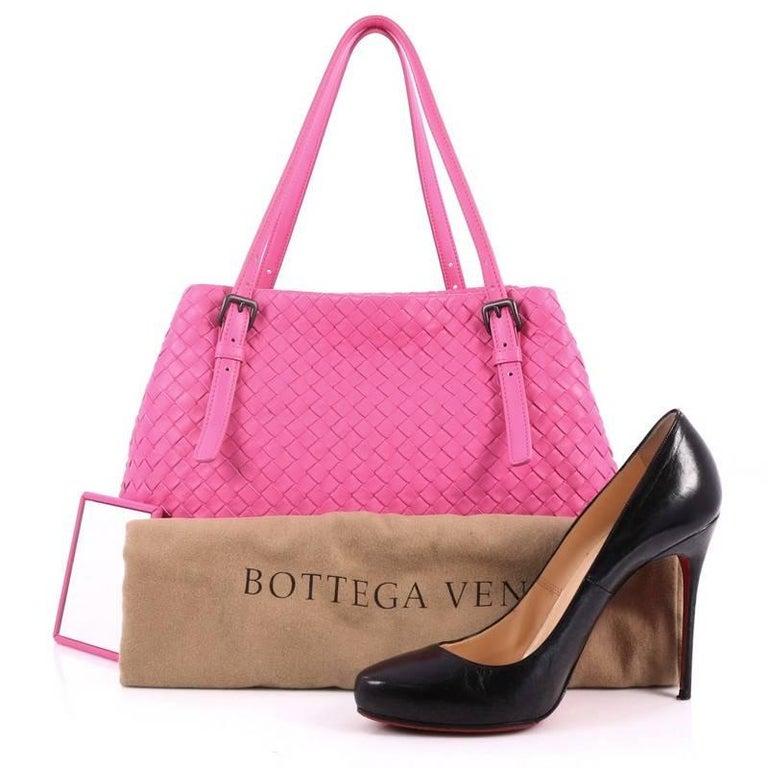 This authentic Bottega Veneta A-Shape Tote Intrecciato Nappa Medium is a  statement piece you 6e56e7636b922