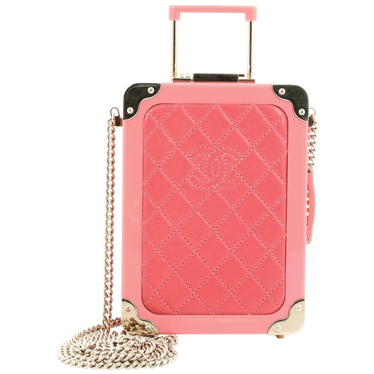 Chanel Trolley Minaudiere Plexiglass and Quilted Lambskin