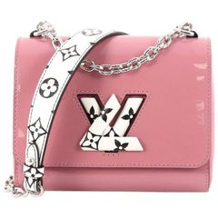 Louis Vuitton Twist Handbag Patent with Limited Edition Reverse Monogram Canvas