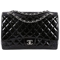 Chanel Classic Quilted Patent Maxi Single Flap Bag