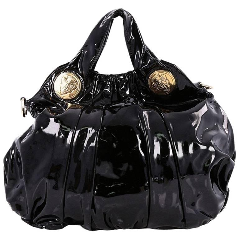 Gucci Hysteria Convertible Top Handle Bag Patent Large