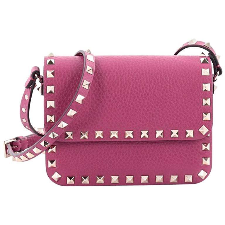 6878631afd Valentino Rockstud Flap Crossbody Bag Leather Small at 1stdibs