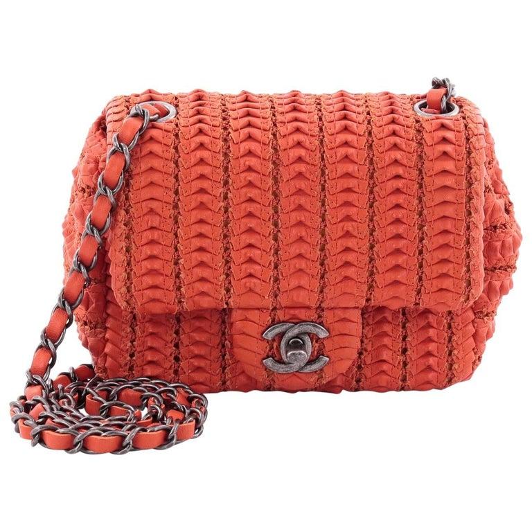 02ab8c7a9228 Chanel Crochet Flap Bag Lambskin Small at 1stdibs