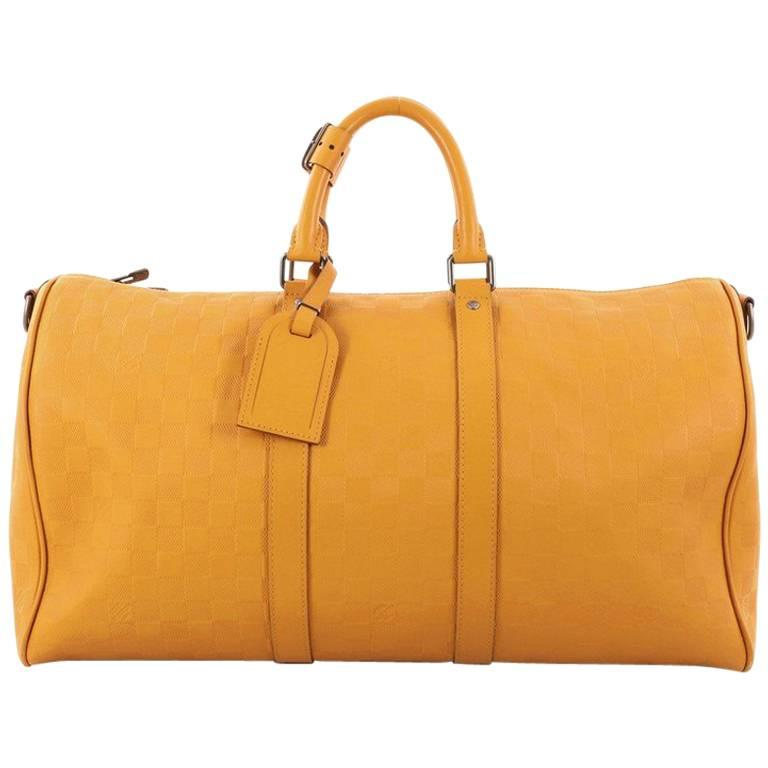 d2343ce3e144 Louis Vuitton Keepall Bandouliere Bag Damier Infini Leather 45 For Sale