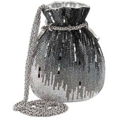 Judith Leiber Beggars Pouch Minaudiere Crystal Small