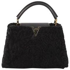 Louis Vuitton Capucines Handbag Astrakhan Fur BB