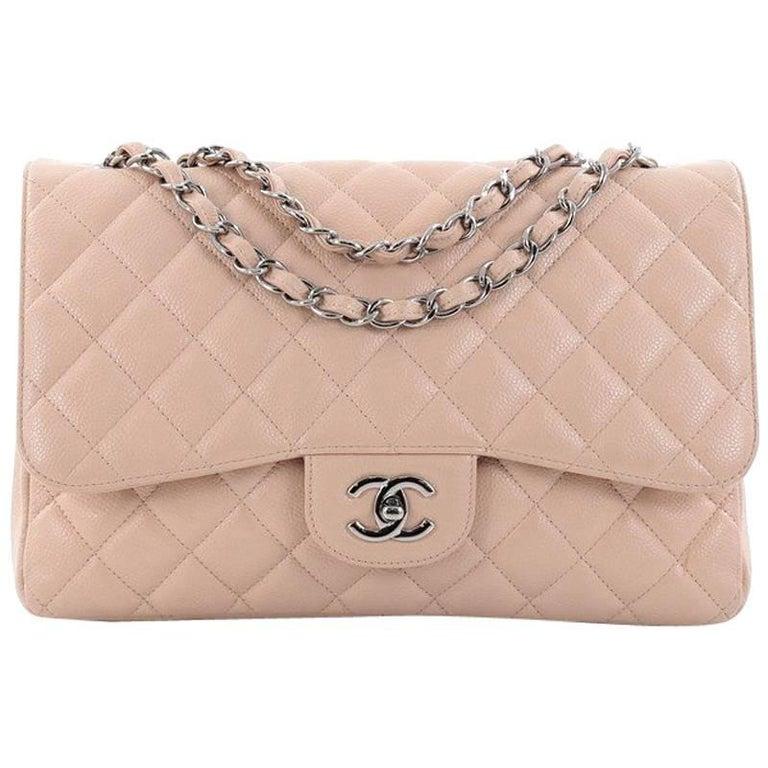 c1eb601b34f2de Chanel Classic Single Flap Bag Quilted Caviar Jumbo at 1stdibs