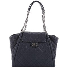 Chanel Studded CC Flap Tote Quilted Calfskin Large