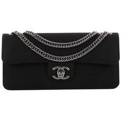 Chanel Turnlock Flap Shoulder Bag Grosgrain East West