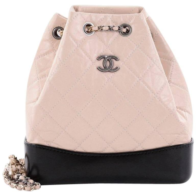 Chanel Gabrielle Backpack Quilted Calfskin Small