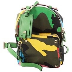 Valentino  Rockstud Backpack Camo Nylon Mini