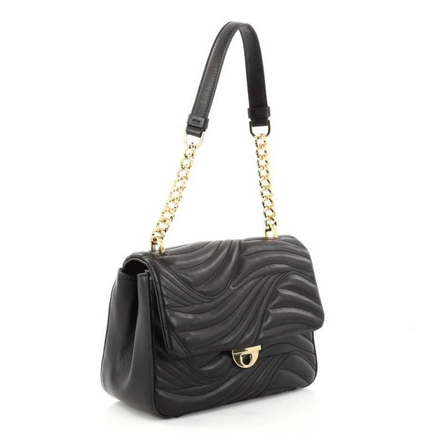 Salvatore Ferragamo Lexi Shoulder Bag Quilted Leather Small at 1stdibs b524f34b17