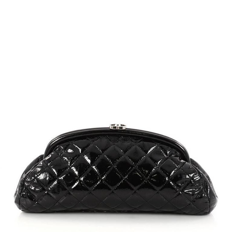 d19448995e6a Chanel Timeless Clutch Quilted Patent For Sale 1