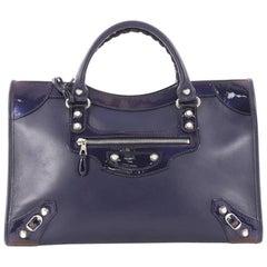 Balenciaga Holiday City Giant Studs Handbag Matte Calfskin Medium