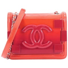 Chanel Boy Brick Flap Bag Patent and Plexiglass Mini