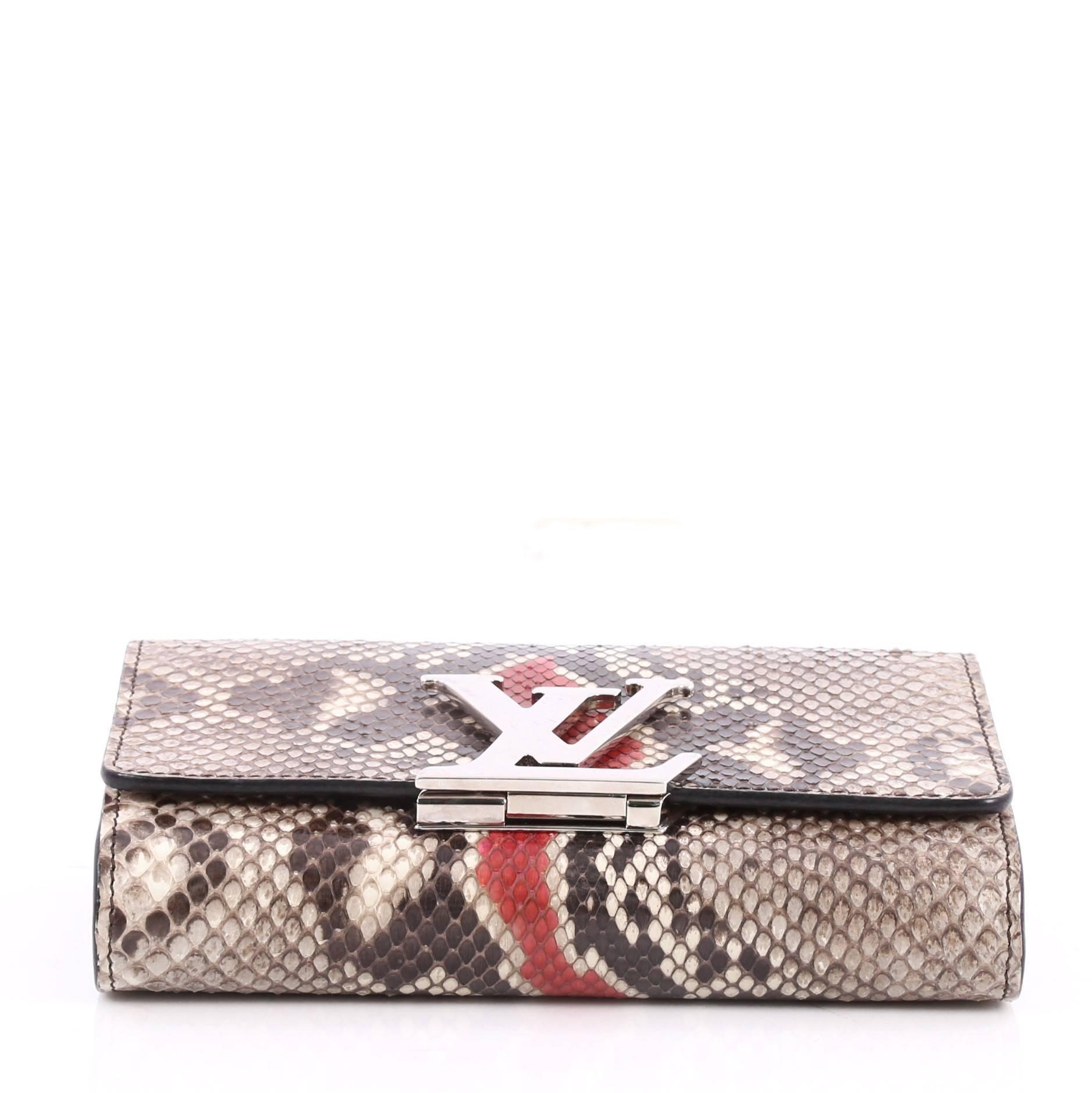 Louis Vuitton Chain Louise Clutch Python GM at 1stdibs 79fb3dfcd58