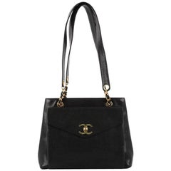 Chanel Vintage Front Pocket Tote Caviar Large