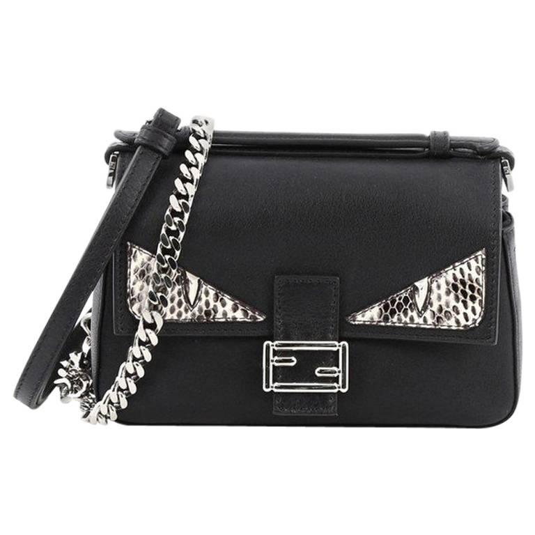 Fendi Double Baguette Monster Crossbody Bag Leather and Python Micro For  Sale. This authentic ... 217f37be23a9e
