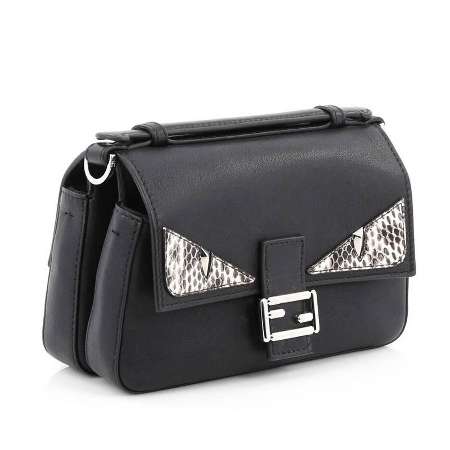 Fendi Double Baguette Monster Crossbody Bag Leather and Python Micro at  1stdibs 9b0b680b42822