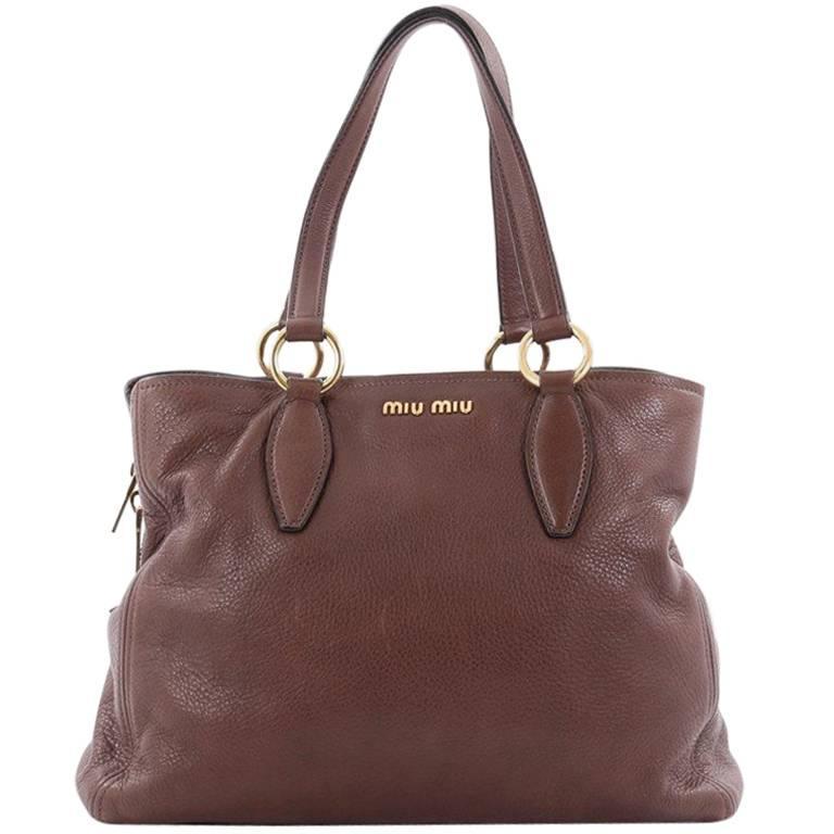 26d75403b772 Miu Miu Phenix Convertible Tote Leather Medium at 1stdibs