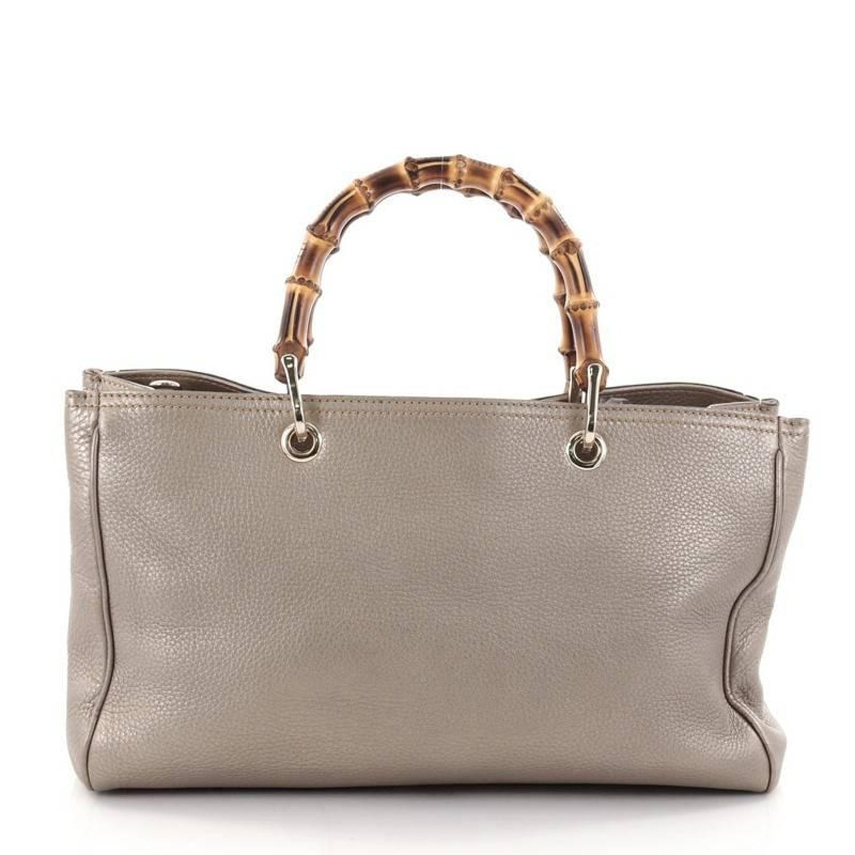 e95ac2a2f50 Gucci Bamboo Shopper Tote Leather Medium at 1stdibs