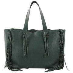 Valentino C-Rockee Fringe Tote Leather Medium