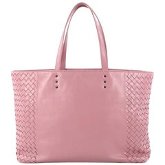 Bottega Veneta Shopping Tote Leather and Intrecciato Nappa Medium