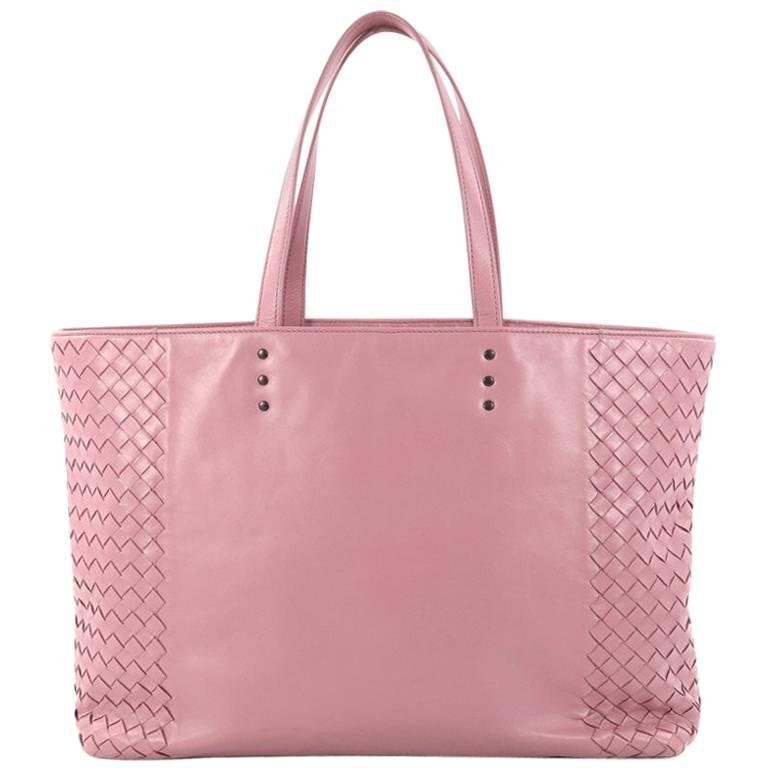 Bottega Veneta Shopping Tote Leather and Intrecciato Nappa Medium
