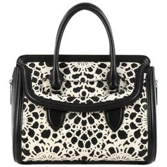 Alexander McQueen Heroine Tote Laser Cut Calf Hair and Leather East West
