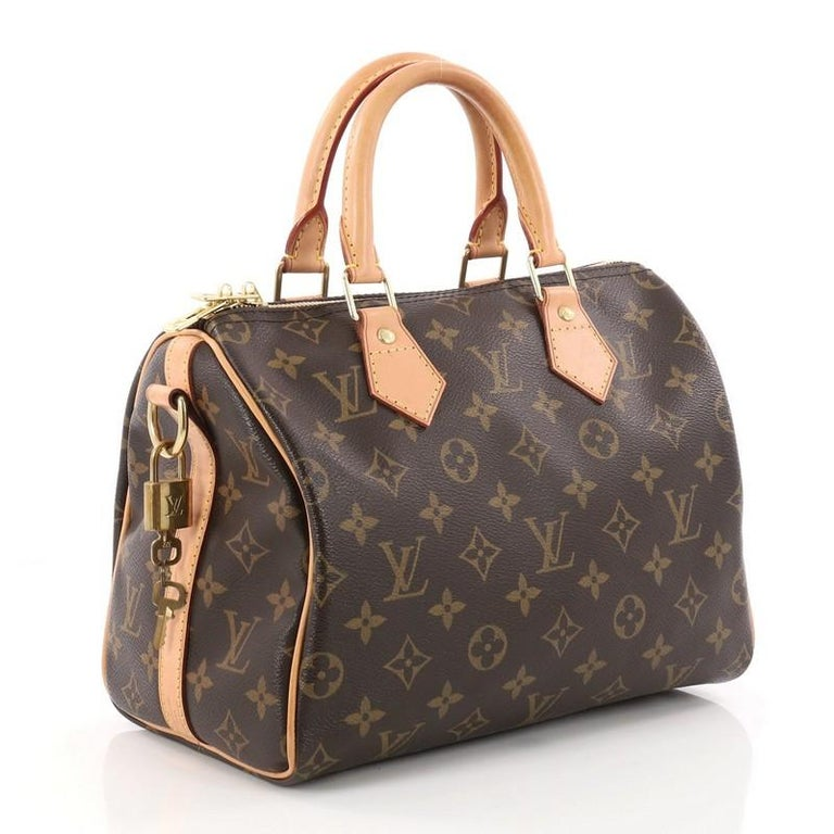b12736afb1af Louis Vuitton Speedy Bandouliere Bag Monogram Canvas 25 In Good Condition  For Sale In New York