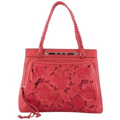 Valentino Demetra Leather Lace Tote