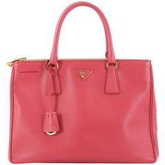 Prada Double Zip Lux Tote Saffiano Leather Medium