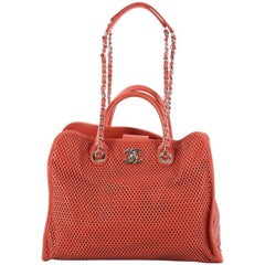 Chanel Up In The Air Convertible Tote Perforated Leather