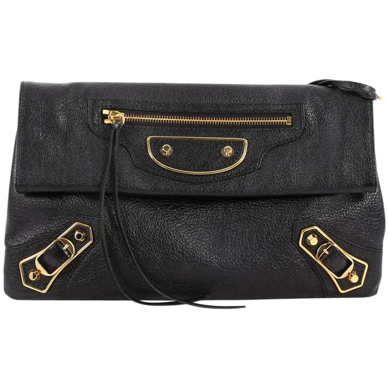 afb8fc4515b1 Balenciaga Envelope Strap Classic Studs Metallic Edge Clutch Leather For  Sale