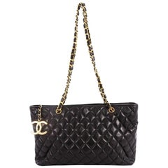 Chanel Vintage CC Charm Tote Quilted Lambskin Large