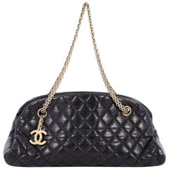 Chanel Just Mademoiselle Handbag Quilted Aged Calfskin Medium