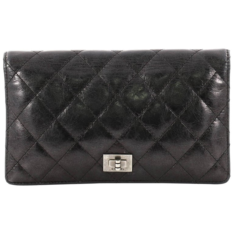 0821423032d5 Chanel Reissue Bifold Wallet Quilted Aged Calfskin Long at 1stdibs