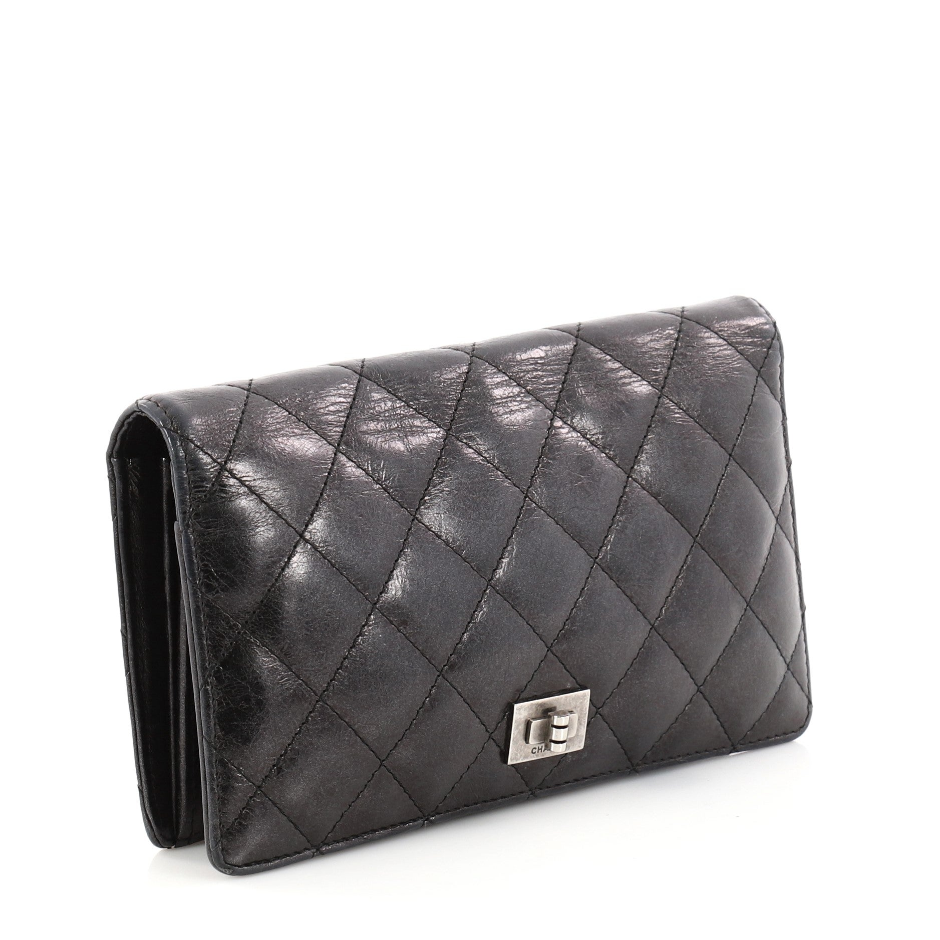 Chanel Reissue Bifold Wallet Quilted Aged Calfskin Long at 1stdibs ef3a0175d8d